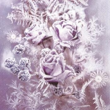Serviette Frosted roses