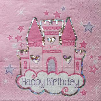 Serviette Happy birthday Schloss