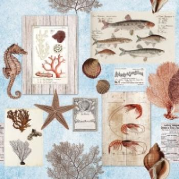 Serviette Sepia Sea blue
