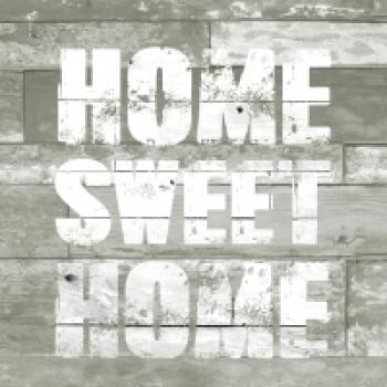 Serviette Home sweet home taupe