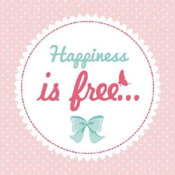 Serviette Happiness is free