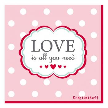 Serviette Love is all you need