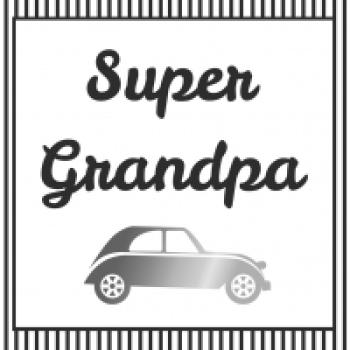 Serviette Super Grandpa