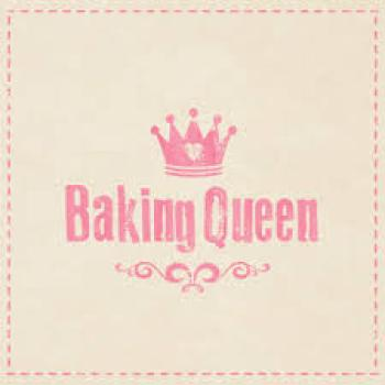 Serviette Baking Queen taupe