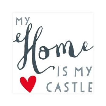 Serviette My home is my castle black