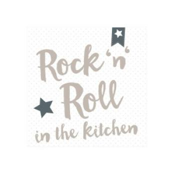 Serviette RocknRoll Kitchen grey