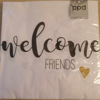 Serviette Welcome friends