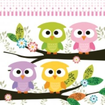 Serviette Cute Owls
