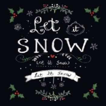 Serviette Let it snow black