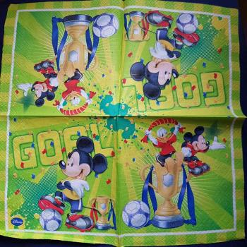 Serviette Mickey Goal