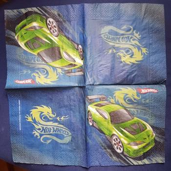 Serviette Hot wheels 2