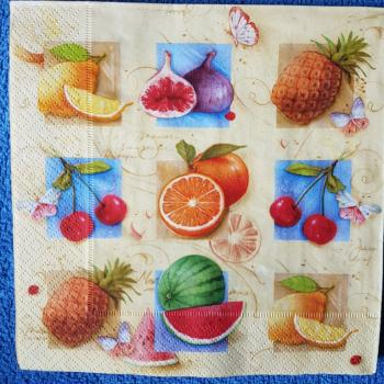 Serviette Fruits