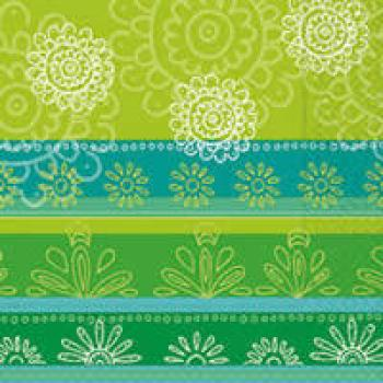 Serviette Fine ornaments green