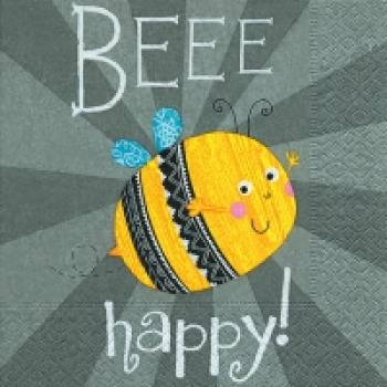 Serviette Bee happy