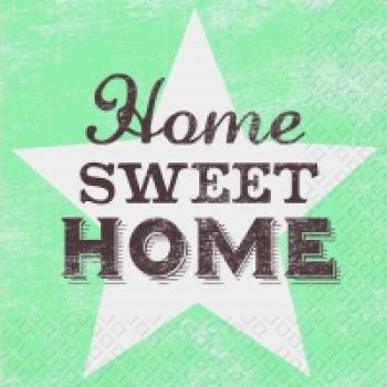 Serviette Home sweet home mint