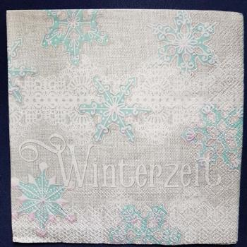 Serviette Winterzeit