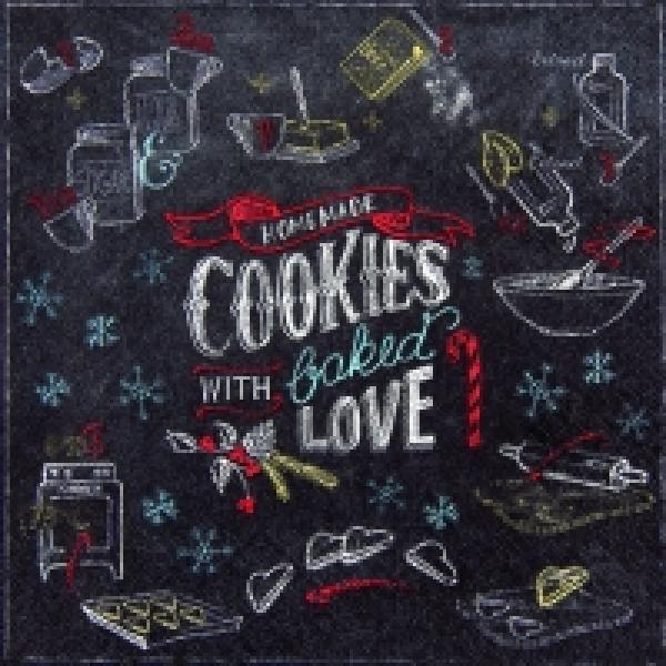 Serviette Cookies with love