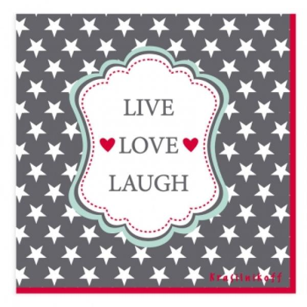 Serviette Live Love Laugh 2