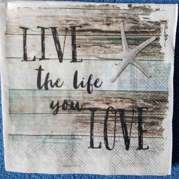 Serviette Live life love