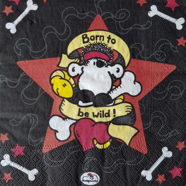 Serviette Sheepworld Born to be wild