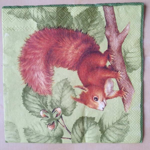 Cocktailserviette Squirrel green