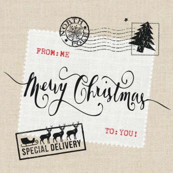 Serviette Christmas Post